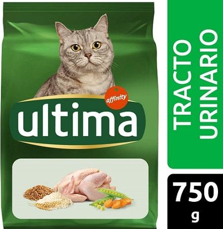 Alimento seco para gatos Ultima Tracto Urinario con pollo