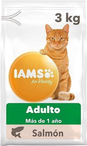 Pienso para gatos IAMS Adulto con salmón