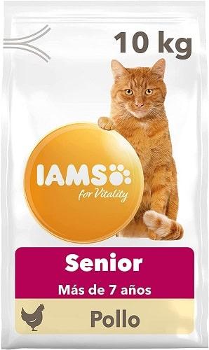 Pienso para gatos IAMS Senior con pollo