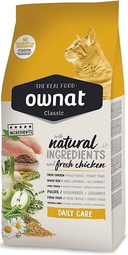 Pienso para gatos Ownat Classic Daily Care con pollo