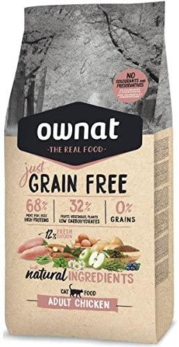 Pienso para gatos Ownat The Real Food Grain Free Adult Chikken