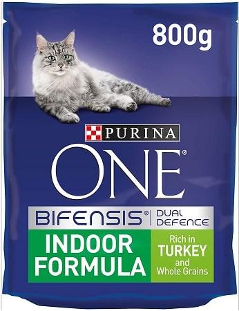 Pienso para gatos Purina One Bifensis Dual Defense Indoor Formula con pavo
