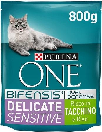 Purina One Bifensis Dual Defense Delicate Sensitive con pavo