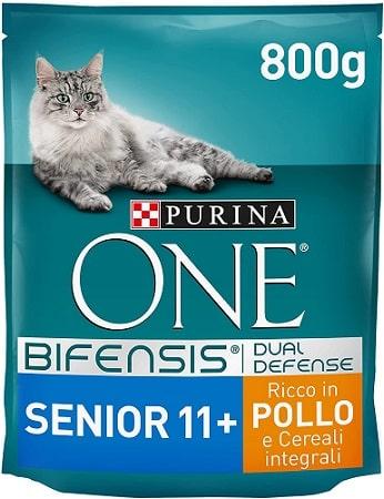 Pienso para gatos Purina One Bifensis Dual Defense Senior +11 con pollo