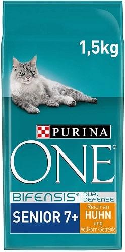 Pienso para gatos Purina One Bifensis Dual Defense Senior 7+ con pollo