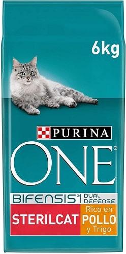 Pienso para gatos Purina One Bifensis Dual Defense SterilCat con pollo
