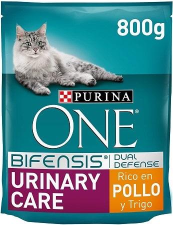 Pienso para gatos Purina One Bifensis Dual Defense Urinary Care con pollo