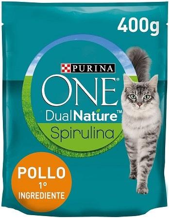Pienso para gatos Purina One Dual Nature Spirulina con pollo