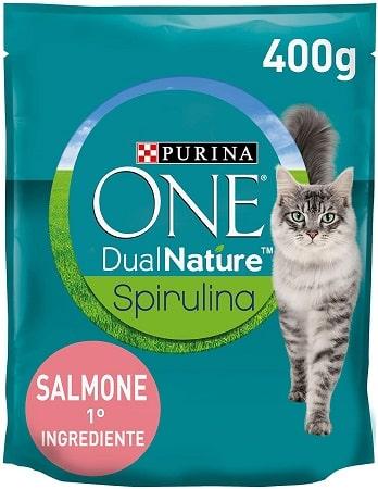 Pienso para gatos Purina One Dual Nature Spirulina con salmón