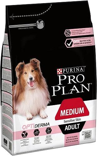 Pienso para perros Purina Pro Plan OptiDerma Medium Adult