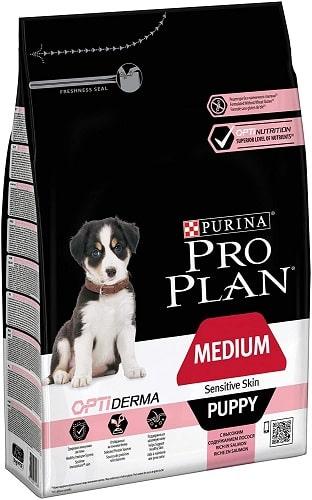 Pienso para perros Purina Pro Plan Opti Derma Medium Sensitive Skin Puppy