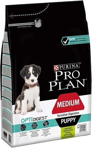 Pienso para perros Purina Pro Plan OptiDigest Medium Sensitive Digestion Puppy