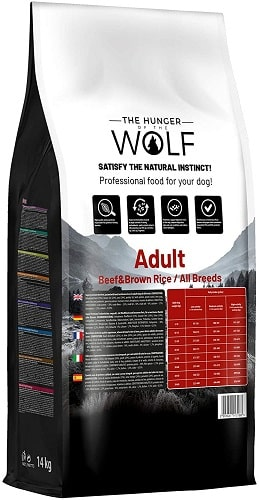 Alimento seco para perros The Hunger Of The Wolf Adult con ternera y arroz integral