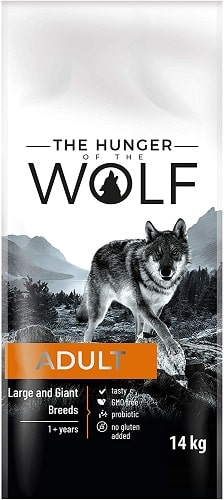 Alimento seco para perros The Hunger Of The Wolf Adult Razas Grandes y Gigantes