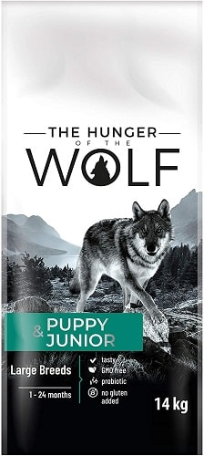 Alimento seco para perros The Hunger Of The Wolf Puppy Junior aves de corral