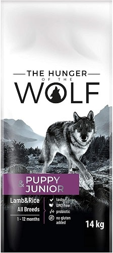 Alimento seco para perros The Hunger Of The Wolf Puppy Junior con cordero