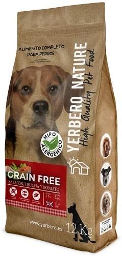 Pienso para perros Yerbereo Nature Grain Free con salmón trucha y bonitato