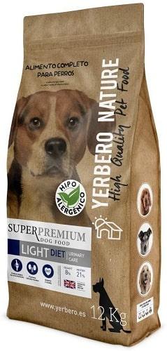Pienso para perros senior Yerbero Nature Superpremium Light Diet